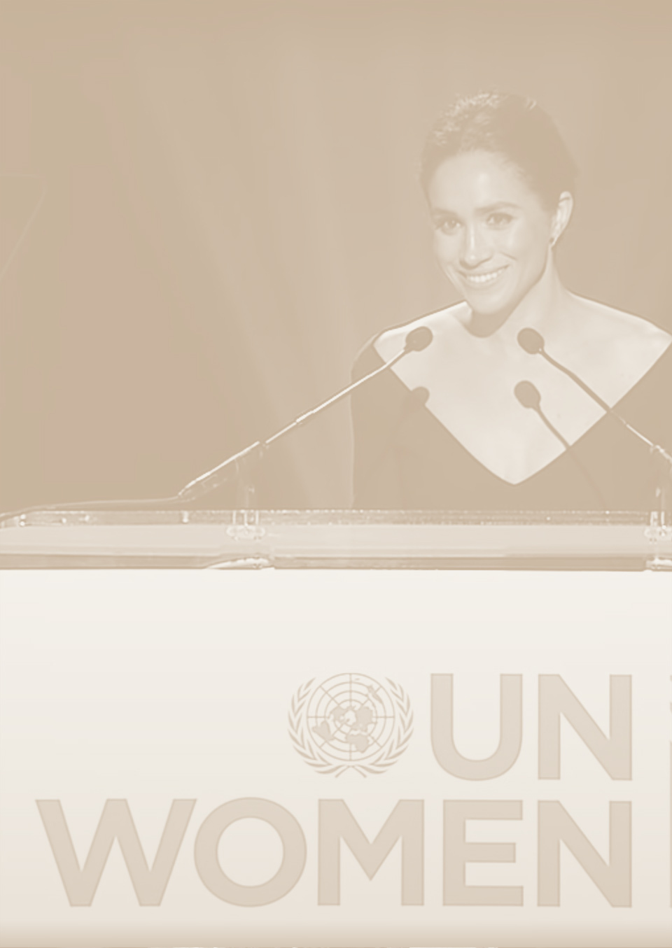The Duchess of Sussex giving speech for IWD with UN Women in 2015