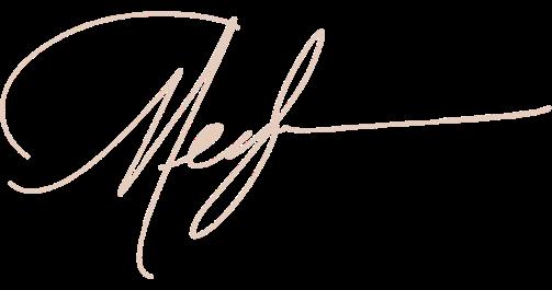 Signature saying Meghan