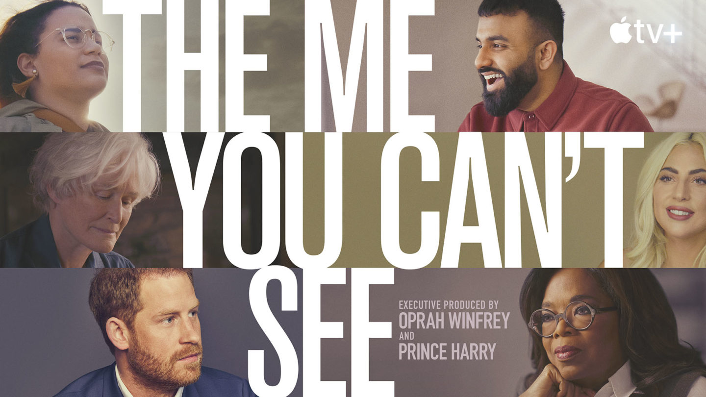 """Promotional image for """"The Me You Can't See,"""" Prince Harry and Oprah Winfrey's new documentary series on mental health and emotional well-being."""