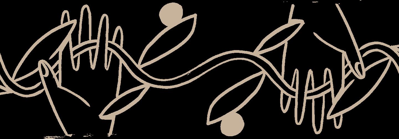 Hands woven into vine.