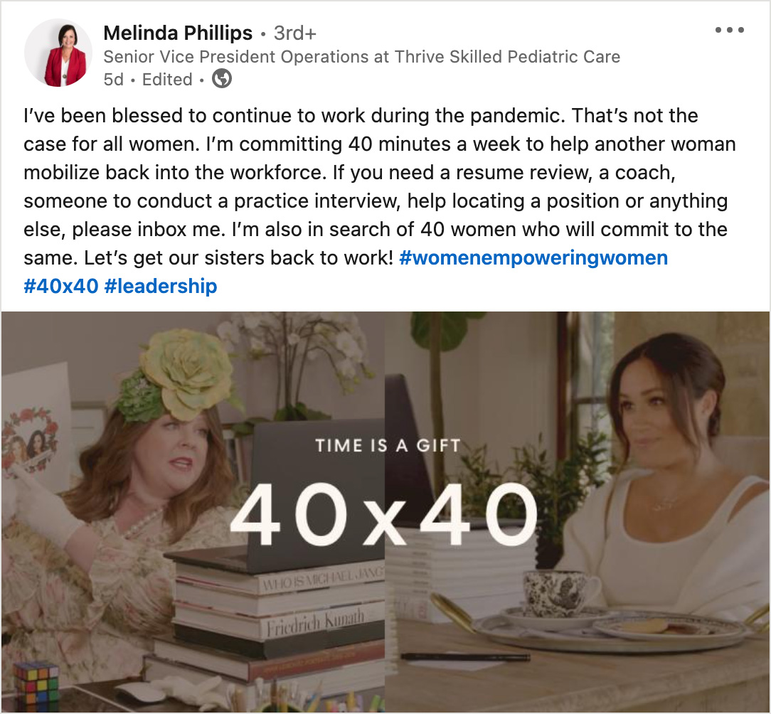 melinda phillips social media post